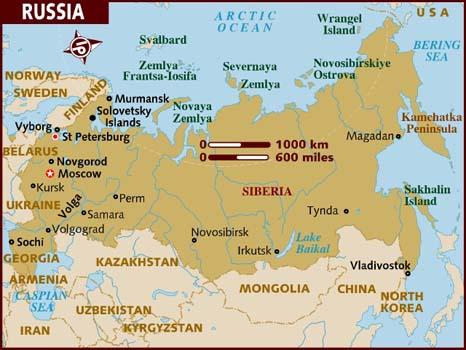 Cartina Siberia Russia.Perm Russia Map